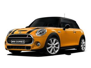 Mini Hatchback available on a 6 month car lease with 6000 miles over the term of the contract