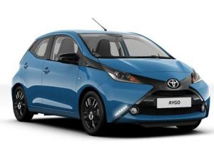 Toyota Aygo Hatchback available on a 6 month car lease with 9000 miles over the term of the contract