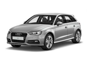 Audi A3 Sportback available on a 7 month car lease with 10500 miles over the term of the contract